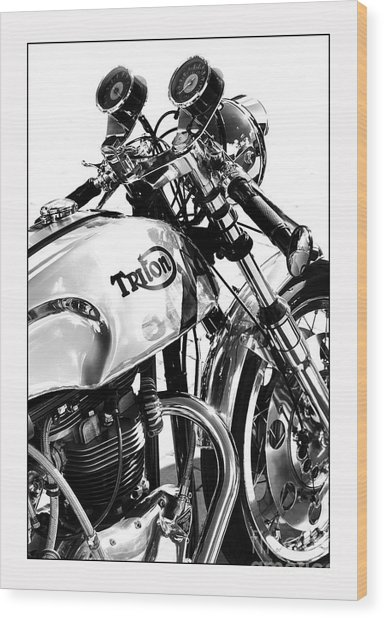 Triton Motorcycle Wood Print