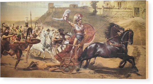 Triumphant Achilles Wood Print