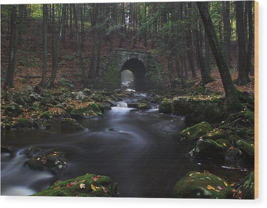 Troll Bridge Wood Print