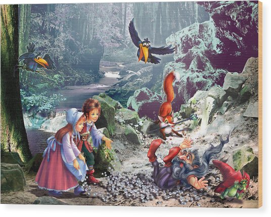 Troll Forest Wood Print