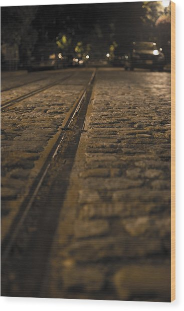 Trollies Came First Wood Print by Michael Williams