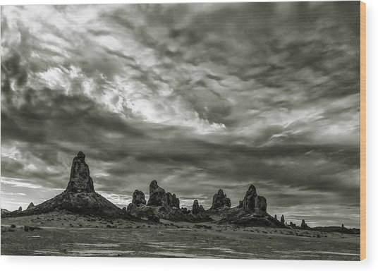 Trona Pinnacles Wood Print