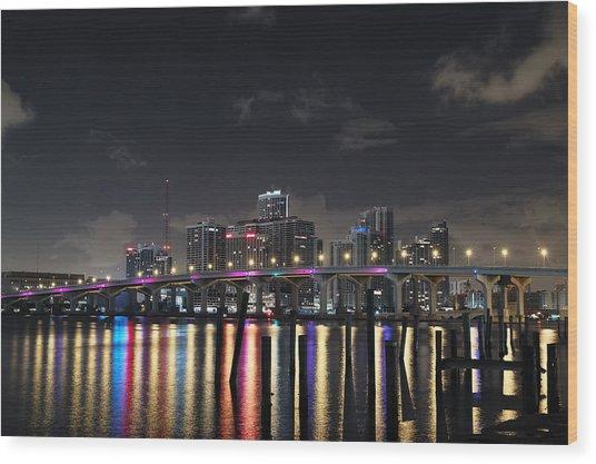 Trooper Bridge Miami Wood Print