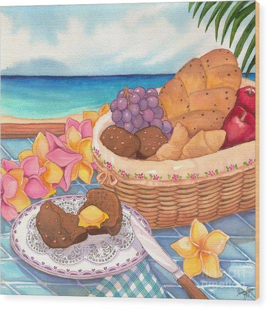 Tropical Breakfast Wood Print by Tammy Yee