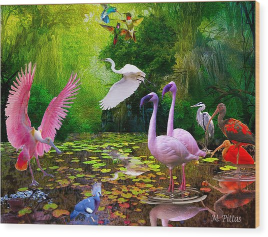 Tropical Colors Wood Print
