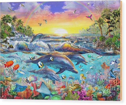 Tropical Cove Wood Print