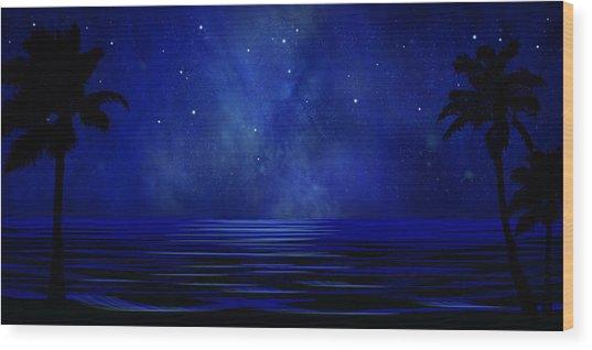 Tropical Dreams Wall Mural Wood Print