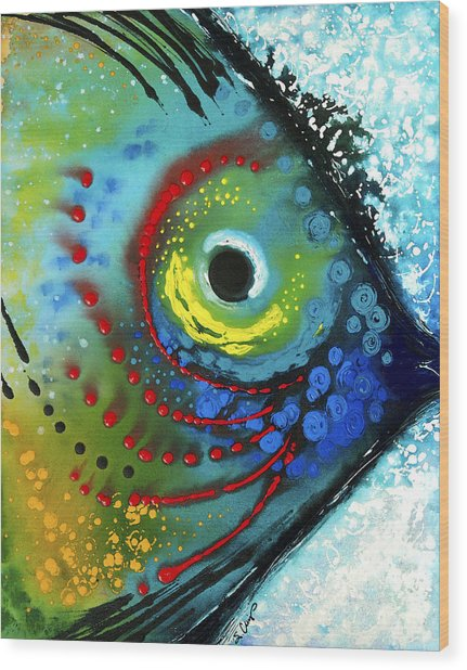 Tropical Fish - Art By Sharon Cummings Wood Print