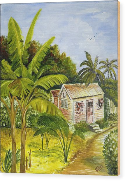 Tropical Haven Wood Print