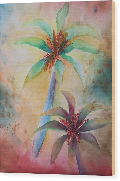 Tropical Image Wood Print