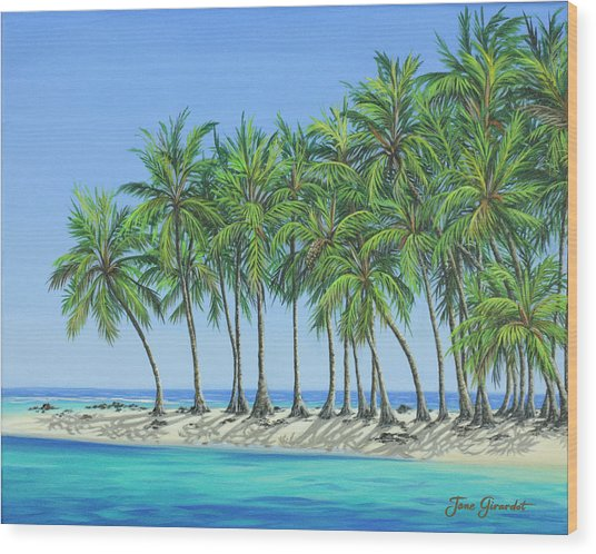 Tropical Lagoon Wood Print
