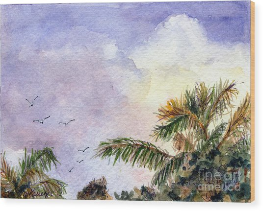 Tropical Morning Wood Print