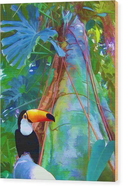 Tropical Toucan Wood Print