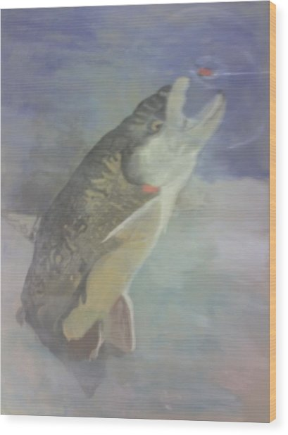 Trout To Fly Wood Print by Stephen Thomson
