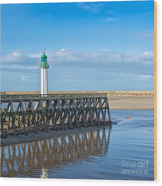 Trouville Lighthouse Wood Print
