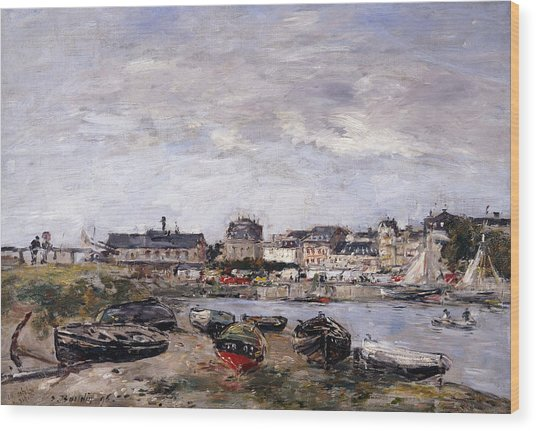 Trouville View Toward Deauville On Market Day Wood Print