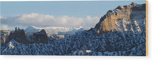 Truchas Peaks Wood Print