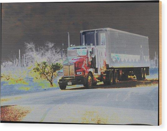 Truck Wood Print by Astrid Lenz
