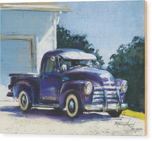 Truck Wood Print by Beverly Amundson