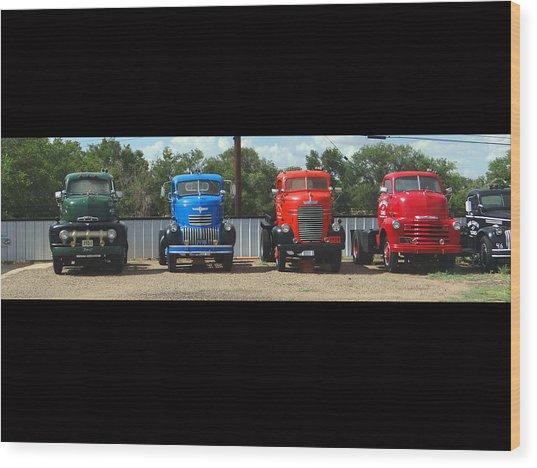 Truckin Wood Print