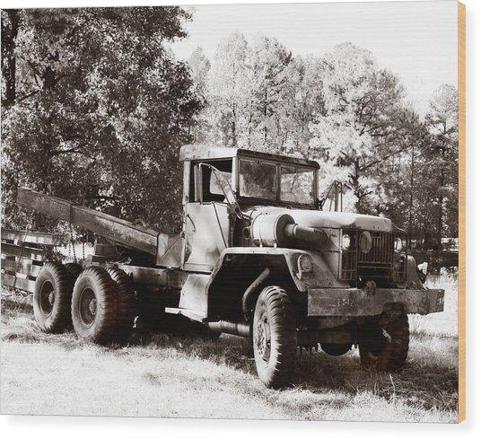 Trucking Wood Print