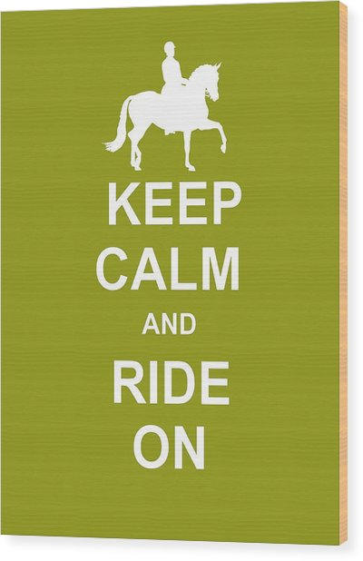 True Cadence Keep Calm Wood Print by JAMART Photography