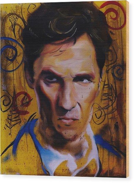 True Detective Matthew Mcconaughey Wood Print