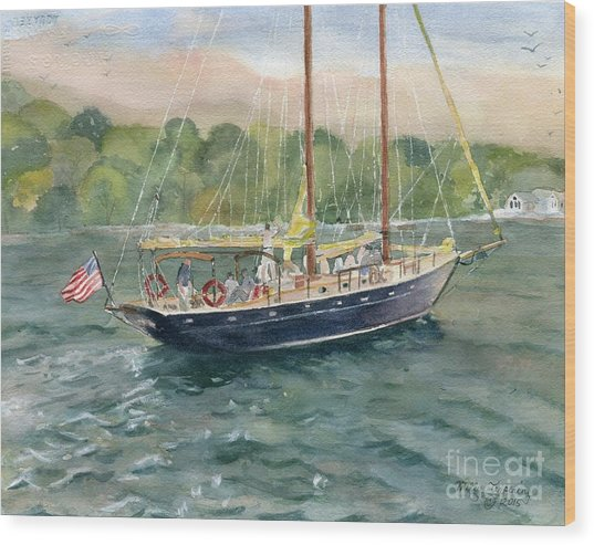 True Love Schooner Wood Print