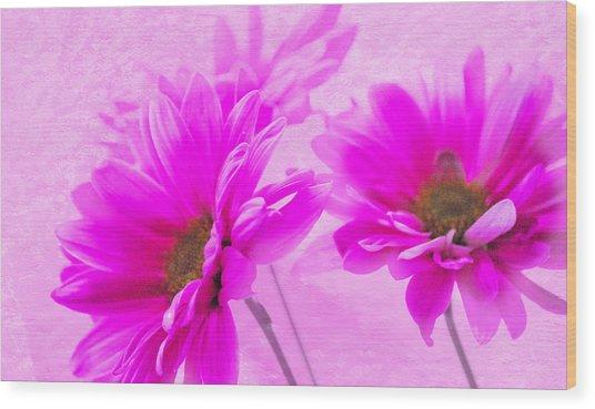 True Pink Wood Print