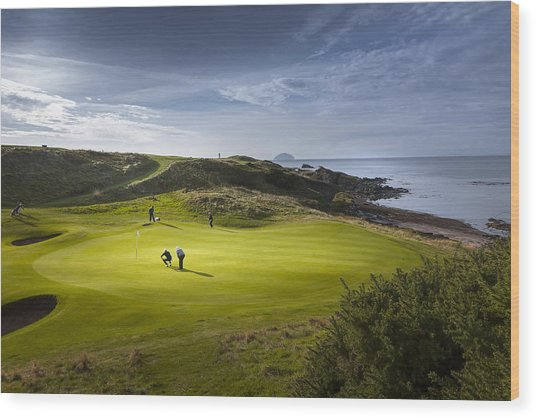Turnberry Seascape Golf Course Wood Print