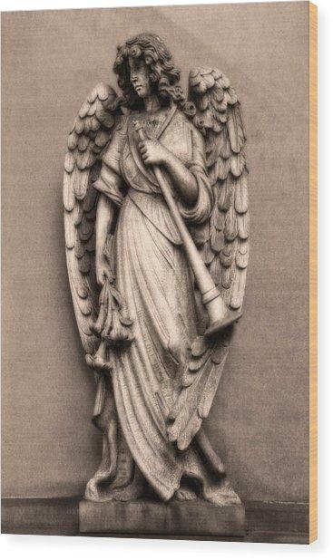 Trumpeter Angel Wood Print