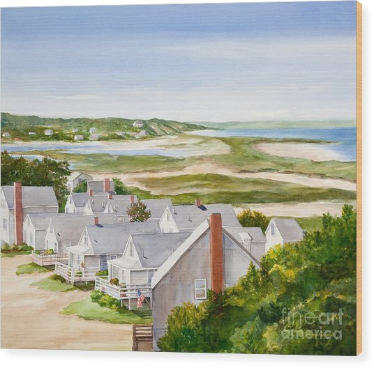 Truro Summer Cottages Wood Print