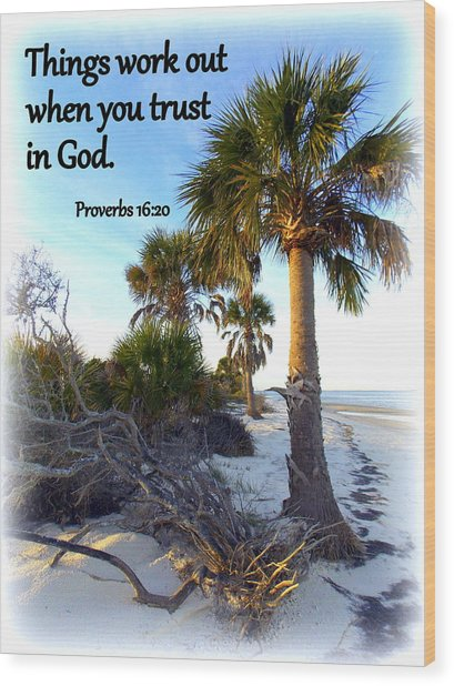 Trust In God Wood Print