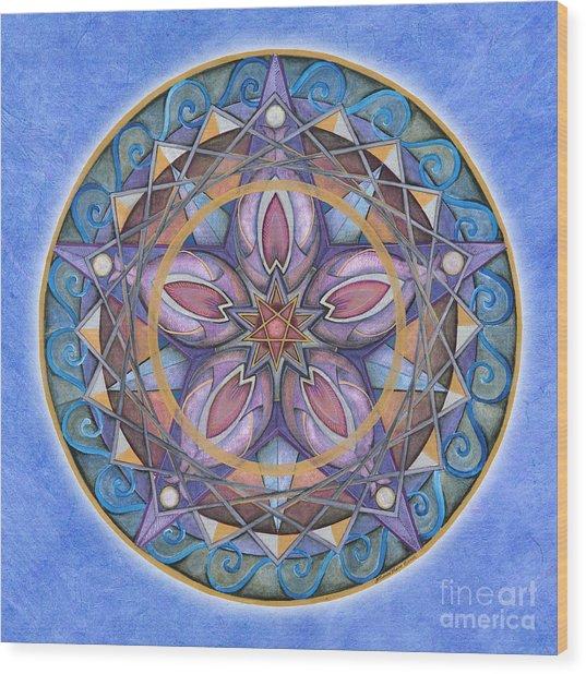 Truth Mandala Wood Print