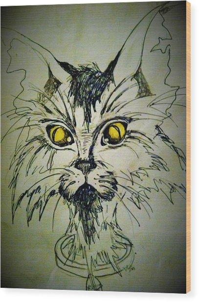 Tsimos Cat Wood Print