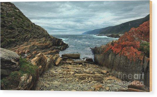 Tsitsikamma Rocky Ocean Wood Print