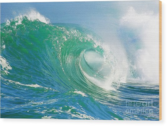 Tubing Wave Wood Print