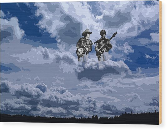 Tucker Boys In The Clouds 2 Wood Print