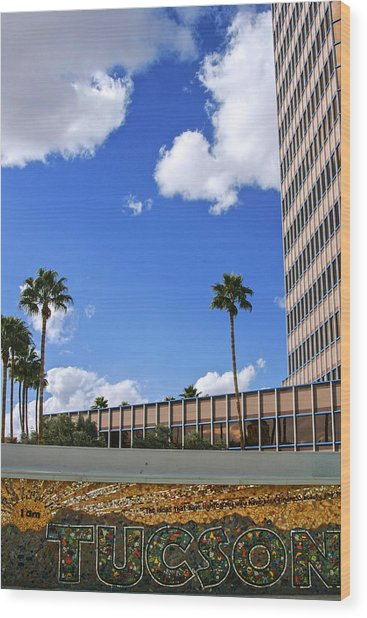 Tucson Arizona Wood Print