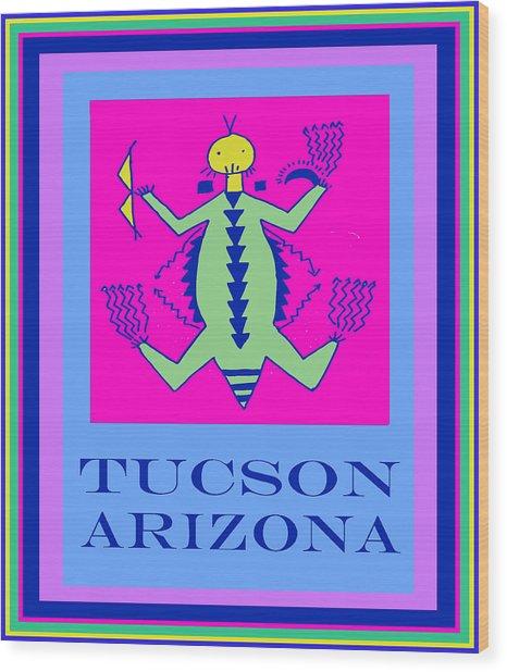 Tucson Arizona Shaman Wood Print