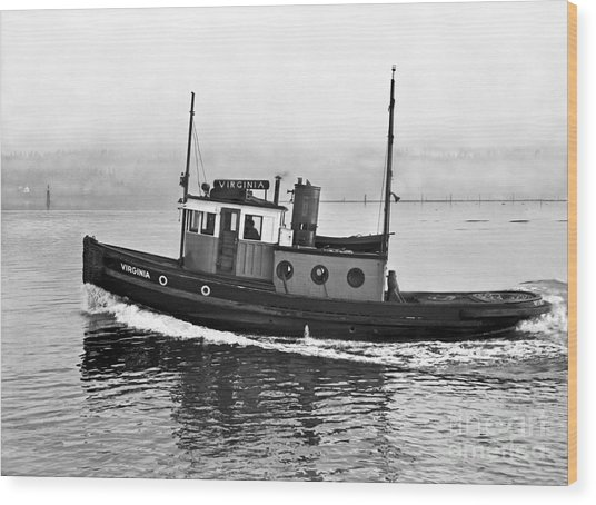 Tug Boat Virginia 1930 Wood Print