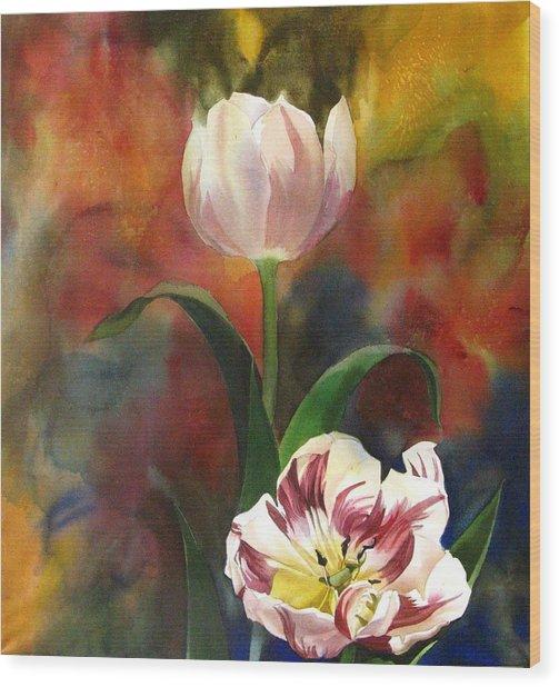Tulip Abstraction Wood Print by Alfred Ng