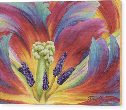 Tulip Color Study Wood Print