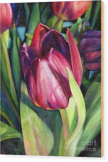 Tulip Delight Wood Print