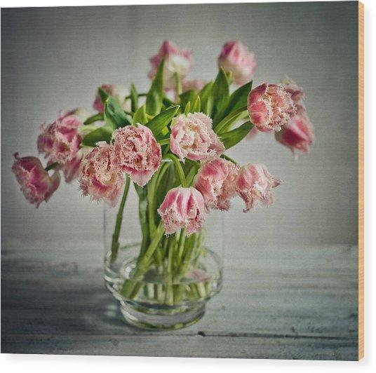 Tulip Still Life Wood Print