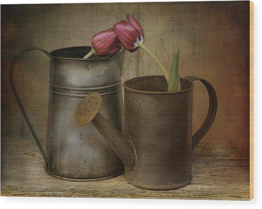 Tulip Tales Wood Print
