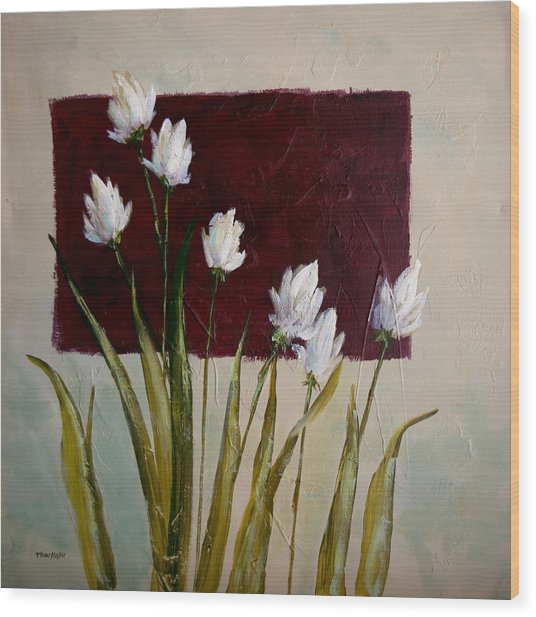 Tulips Wood Print by Bob Pennycook