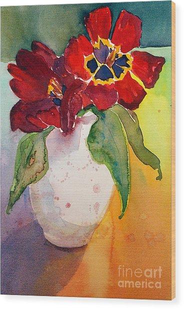 Tulips Wood Print by Gwen Nichols