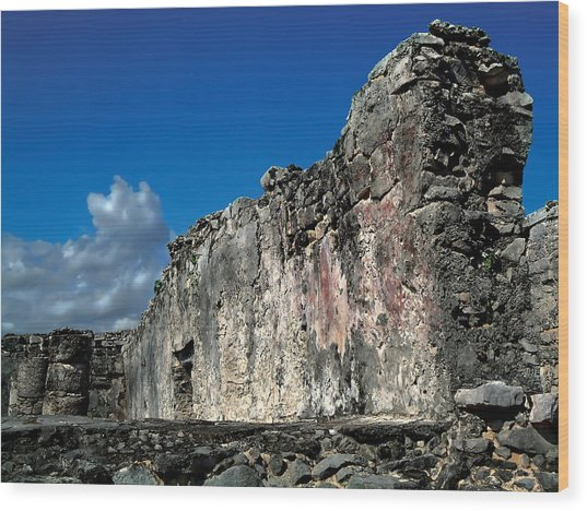 Tulum Wood Print by Mike Feraco