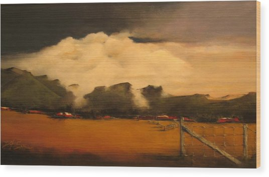 Tumbling Clouds Wood Print